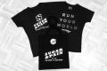 """MARATHON MÜNCHEN 2017 SUGAR & PAIN TEAM Run Four Good mit Speed, Spaß und viel / Limited Edition SUGAR & PAIN RUNNING Shirt """"Run Your Word"""" plus SUGAR & PAIN JUNK Bag"""