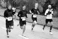 MARATHON MÜNCHEN 2017 SUGAR & PAIN TEAM Run Four Good mit Speed, Spirit und viel Spass / Gemeinsamer Zieleinlauf des Team I © Stefan Drexl