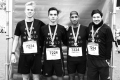 MARATHON MÜNCHEN 2017 SUGAR & PAIN TEAM Run Four Good mit Speed, Spirit und viel Spass / One Team - one Spirit Sami, Simon, Gary und Patrick (v.l.n.r.) © Stefan Drexl