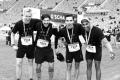 MARATHON MÜNCHEN 2017 SUGAR & PAIN TEAM Run Four Good mit Speed, Spirit und viel Spass / Große Freude nach 2:47 Stunden über den 9. Platz für Sami, Patrick, Simon und Gary (v.l.n.r.) © Stefan Drexl