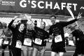 MARATHON MÜNCHEN 2017 SUGAR & PAIN TEAM Run Four Good mit Speed, Spirit und viel Spass / Team II hat's geschafft mit Sarah, Doro, Jamie, und Sebastian (v.l.n.r.) © Stefan Drexl