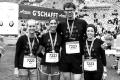 MARATHON MÜNCHEN 2017 SUGAR & PAIN TEAM Run Four Good mit Speed, Spirit und viel Spass / Team II mit Doro, Jamie, Sebastian und Sarah (v.l.n.r.) © Stefan Drexl