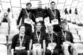 MARATHON MÜNCHEN 2017 SUGAR & PAIN TEAM Run Four Good mit Speed, Spirit und viel Spass / Strahlende Gesichter der beiden Marathonstaffeln © Stefan Drexl