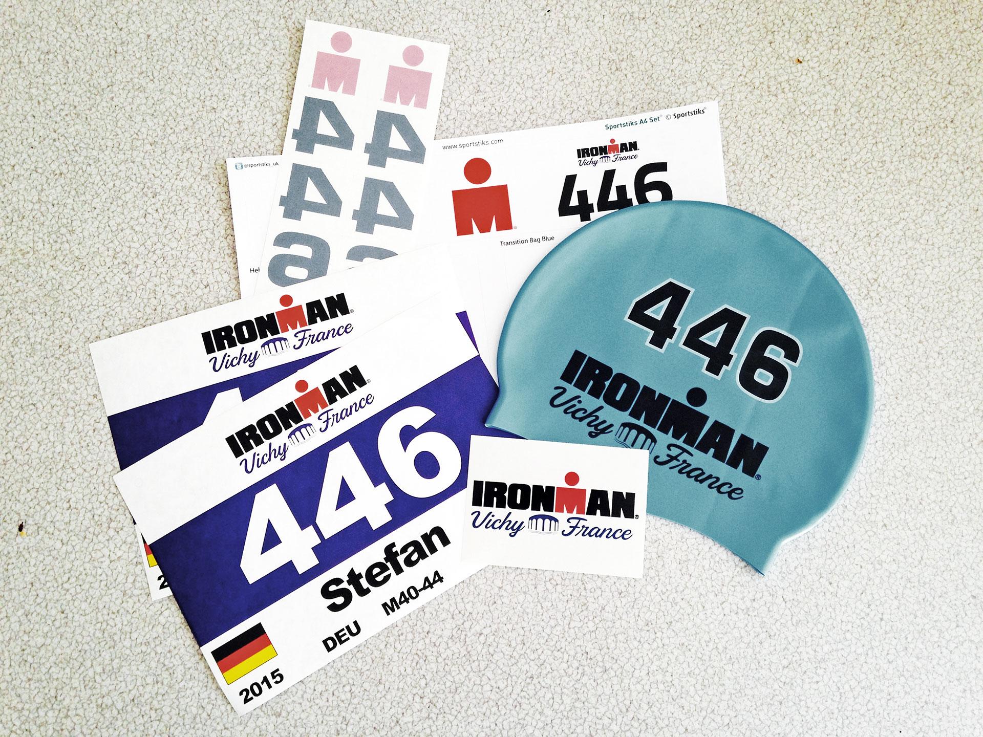 Jetzt zählt's: Startunterlagen - check! / Meine erste Langdistanz, IRONMAN Vichy 2015 © stefandrexl.de