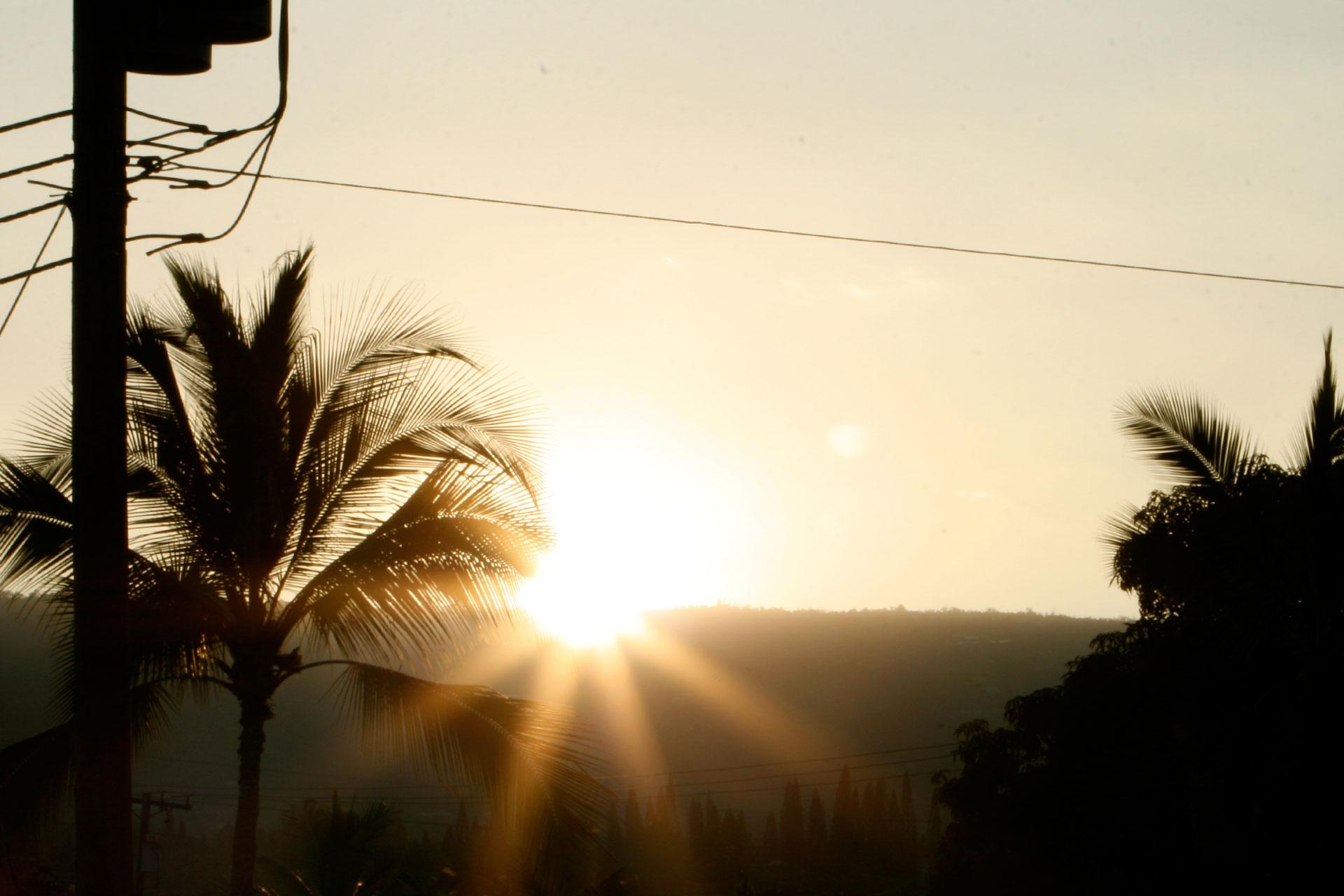 Honolulu Marathon 2010: Mit Aloha durch das Blaue Paradies / Sunrise bei der morgendlichen Laufeinheit ©stefandrexl.de