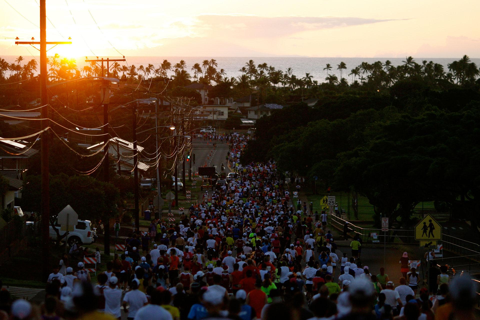 Honolulu Marathon 2010: Mit Aloha durch das Blaue Paradies / Das Meer ist immer im Blick ©stefandrexl.de