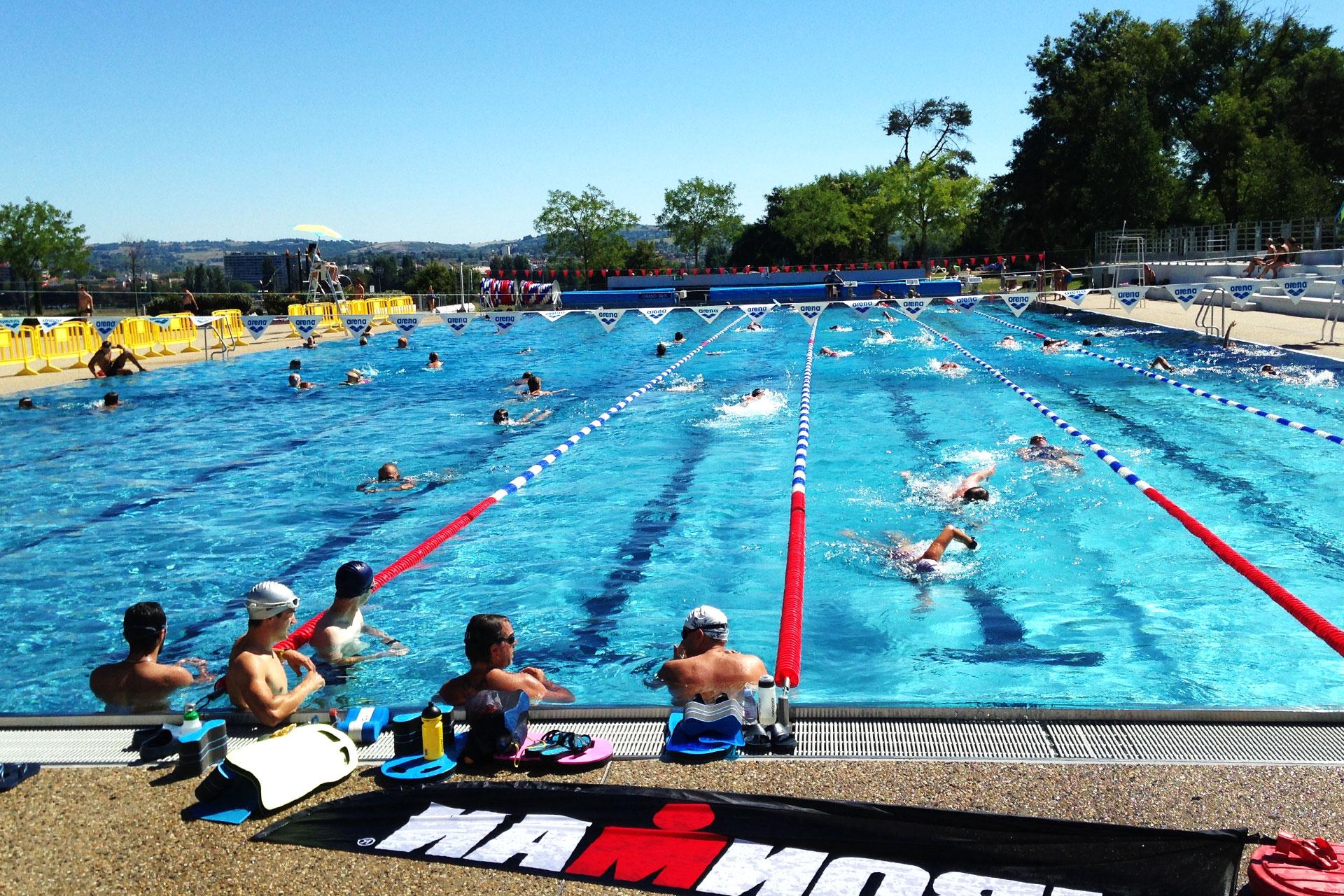 IRONMAN VICHY 2016 Die Hitzeschlacht – PART TWO / Für's letzte Schwimmtraining geht's in den Aquadom d'Allier © Stefandrexl.de