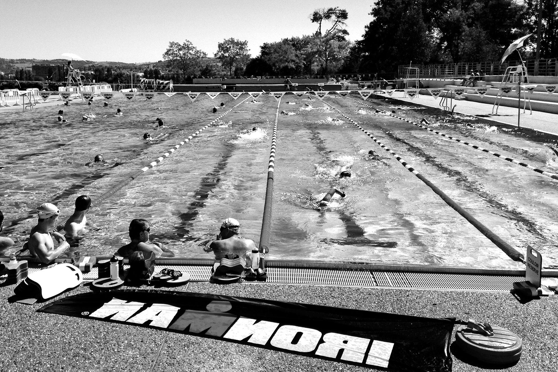 IRONMAN VICHY 2016 The Story: Echter Erfolg mit virtuellen Nebenwirkungen / Die letzte Schwimmeinheit vor dem Wettkampf ©stefandrexl.de