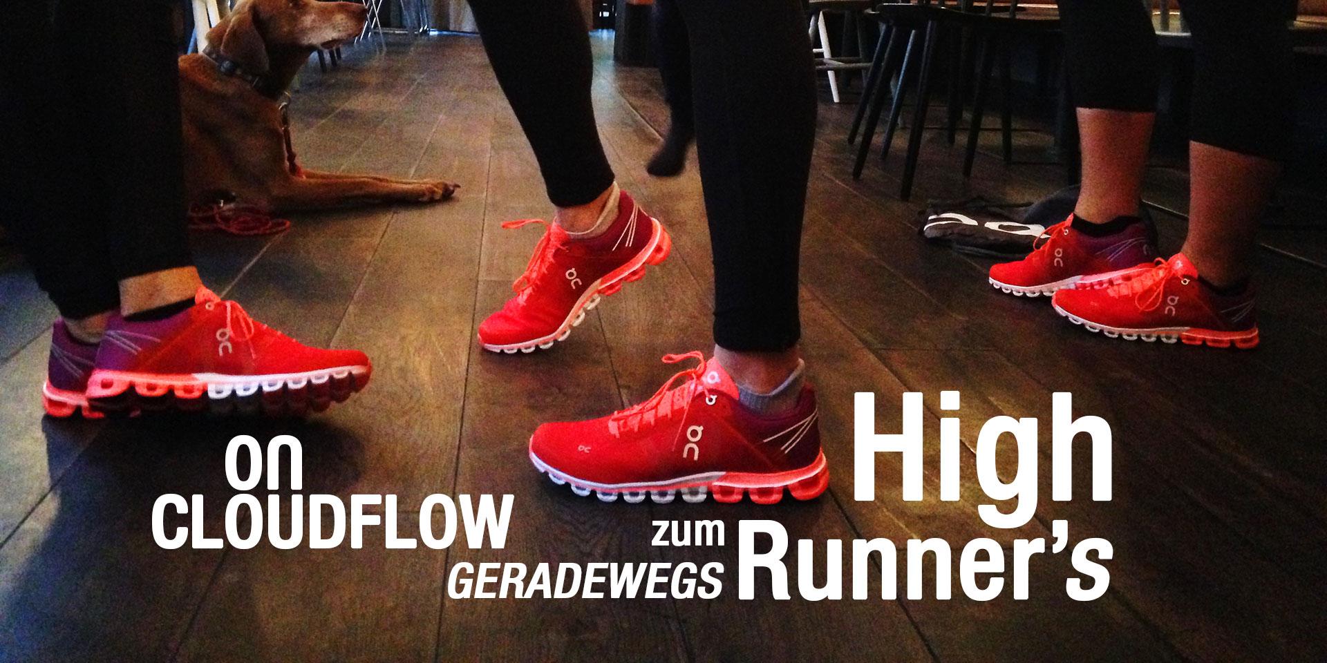 ON CLOUDFLOW Geradewegs zum Runner's High / ON CLOUDFLOW Geradewegs zum Runner's High / Für den Herbst / Winter 2016 und hat ON Running seinen neu entwickelten Cloudflow für lange Dauerläufe vorgestellt: Fast zu Schade zum Laufen!