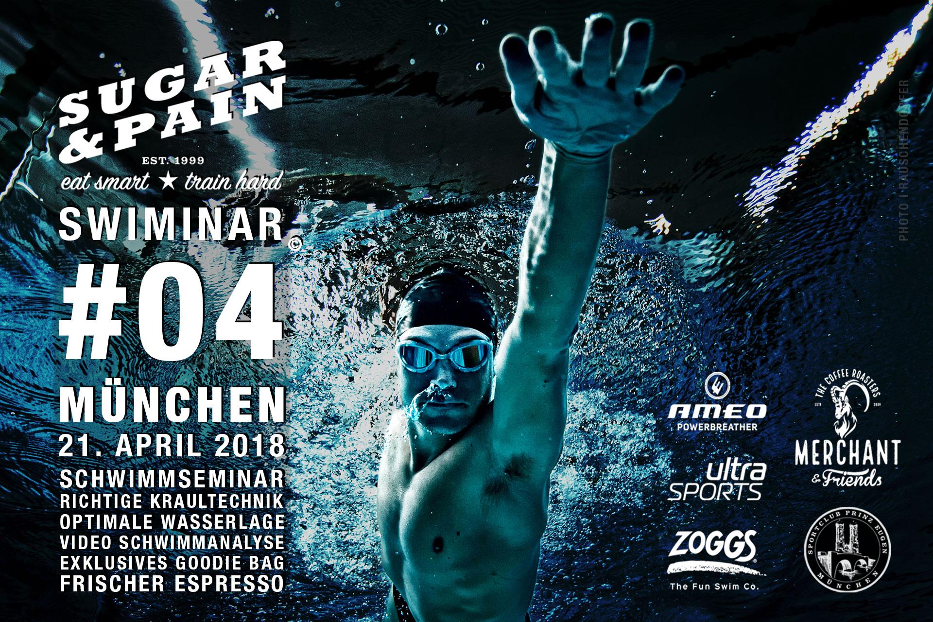 SUGAR & PAIN SWIMINAR #03 | DIE BESSERE KRAULTECHNIK mit DTU Triathlon Trainer und Sportwissenschaftler, Stefan Drexl © stefandrexl.com