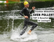 TRIATHLON LAUINGEN SVEN POLLERT BEI DER MITTELDISTANZ TOP 5 / 1st Out of Water after 2100 m © Sven Pollert