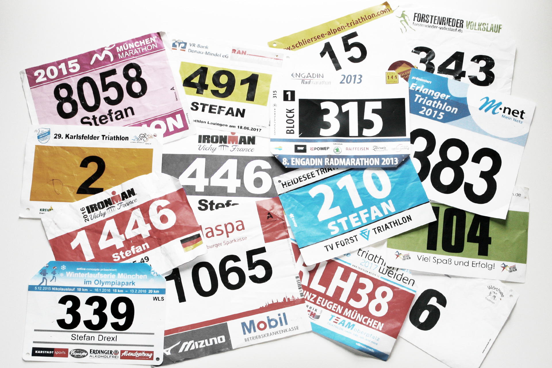 SUGAR & PAIN eat smart. train hard. Colorful Bibs & Numbers © stefandrexl.de