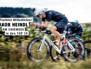 TRIATHLON MITTELDISTANZ Jakob Heindl am Chiemsee in den TOP 10 : Nach solidem Schwimmen beginnt die Aufholjagd auf dem Zeitfahrrad / © ernst-wukits.de