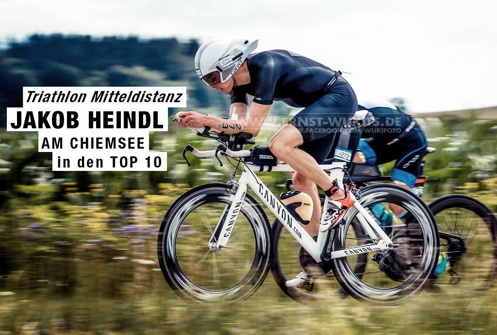 TRIATHLON MITTELDISTANZ Jakob Heindl am Chiemsee in den TOP 10 : Nach solidem Schwimmen beginnt die Aufholjagd auf dem Zeitfahrrad / © ernst-wukits.de