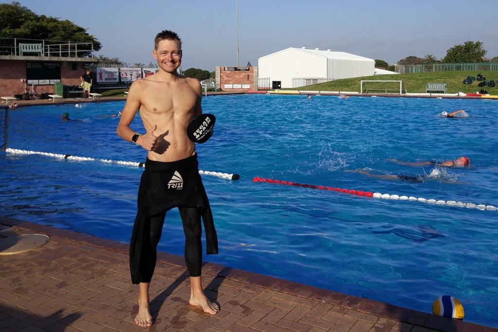 IRONMAN 70.3 WM SÜDAFRIKA Sven Pollert mit persönlicher Bestzeit / Eine der letzten Schwimmeinheiten vor derm Show Down © Pollert