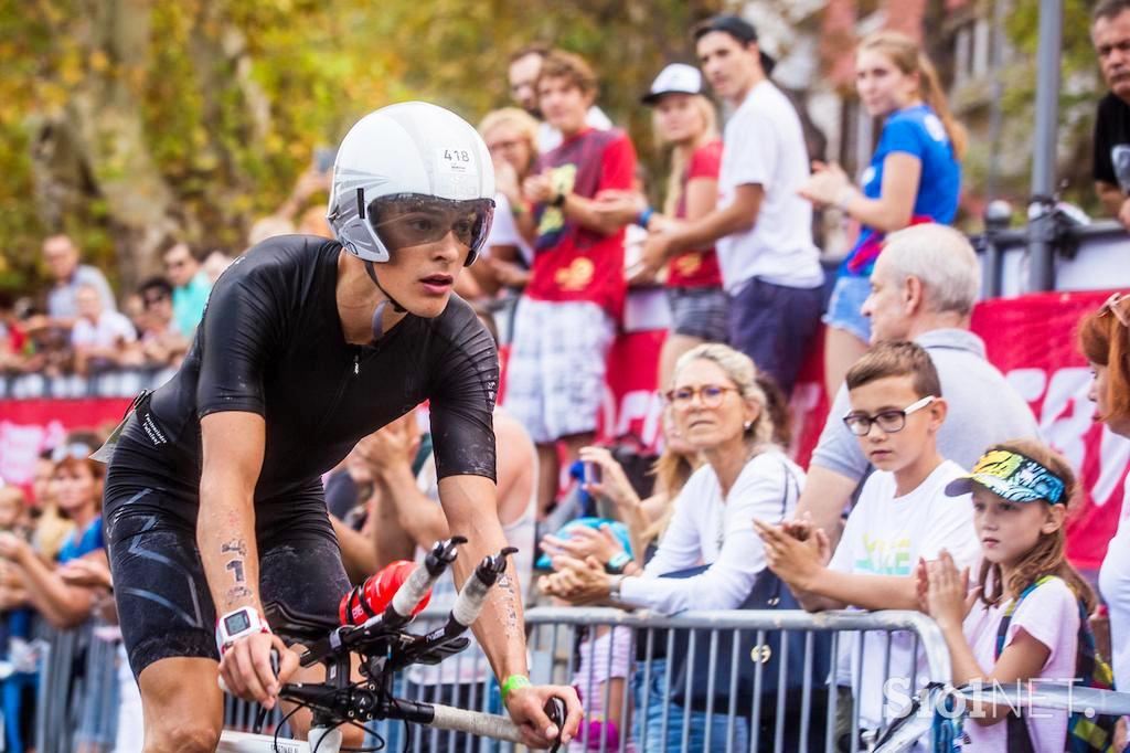 IRONMAN 70.3 SLOVENIA 2018 Jakob Heindl rennt auf Platz 2 / Jakob hätte gerne eine Flucht nach vorne angetreten © Sio1Net.se