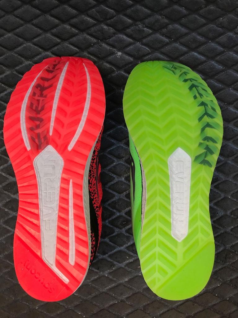 SAUCONY FREEDOM ISO 2 Mehr Komfort für weniger Freiheit - Der Laufschuhtest / Die CRYSTAL RUBBER Laufsohle mit TRIFLEX Profil bekommt mehr Aussparungen © stefandrexl.com
