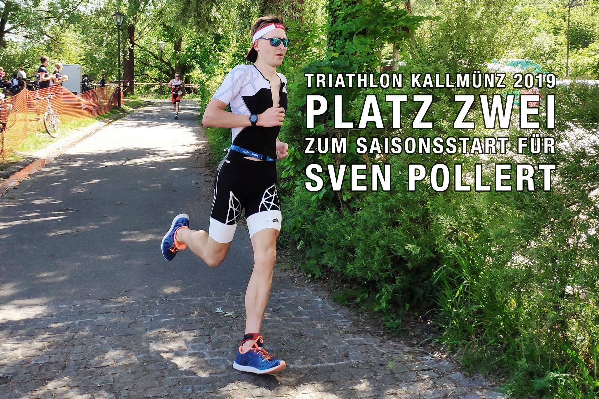 TRIATHLON KALLMÜNZ 2019 Platz zwei zum Saisonsstart für Sven Pollert © Sven Pollert