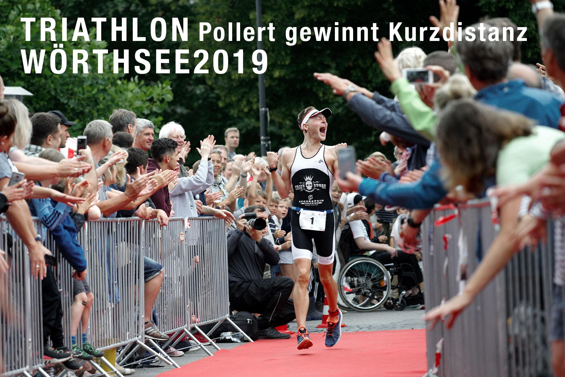 TRIATHLON WÖRTHSEE 2019 Sven Pollert gewinnt erste Kurzdistanz mit Ersatzrad © Fabian Schaffert