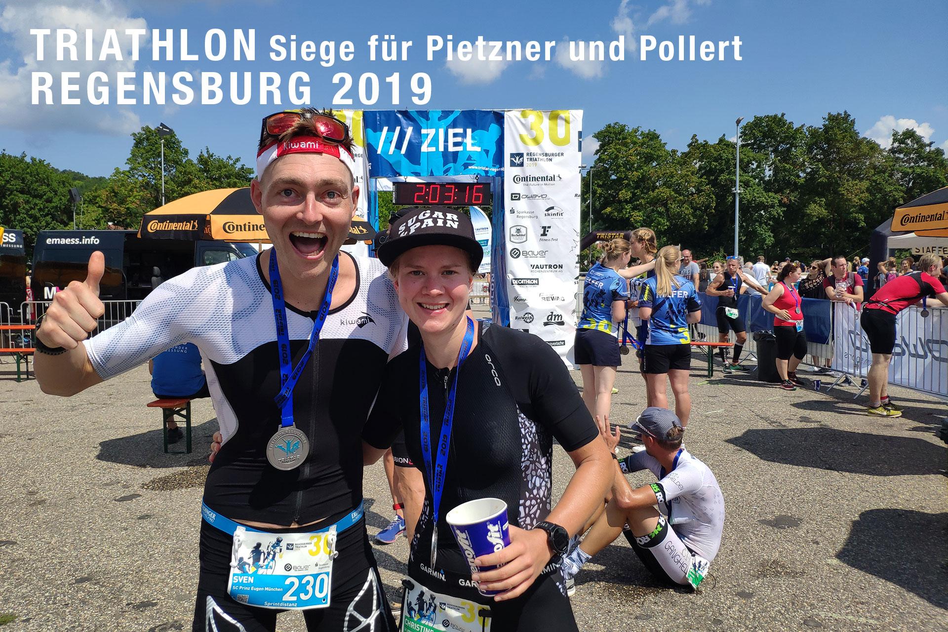 TRIATHLON REGENSBURG 2019 Siege auf der Sprint- und Kurzdistanz © Sven Pollert