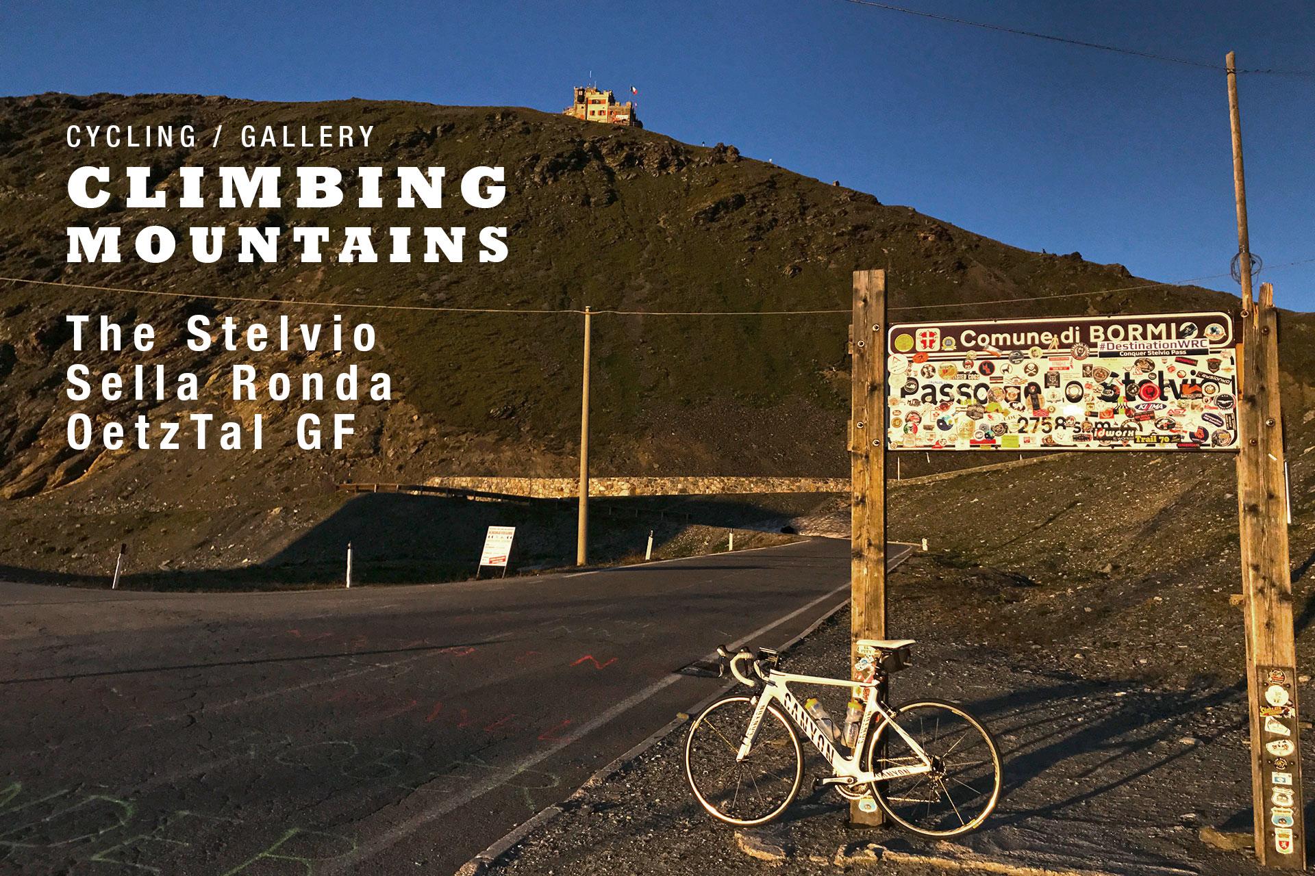 CLIMBING MOUNTAINS Alpenlegenden - Stelvio, Sella Ronda, Timmelsjoch, Oetztal GF / Stelvio Titelbild © Stefan Drexl