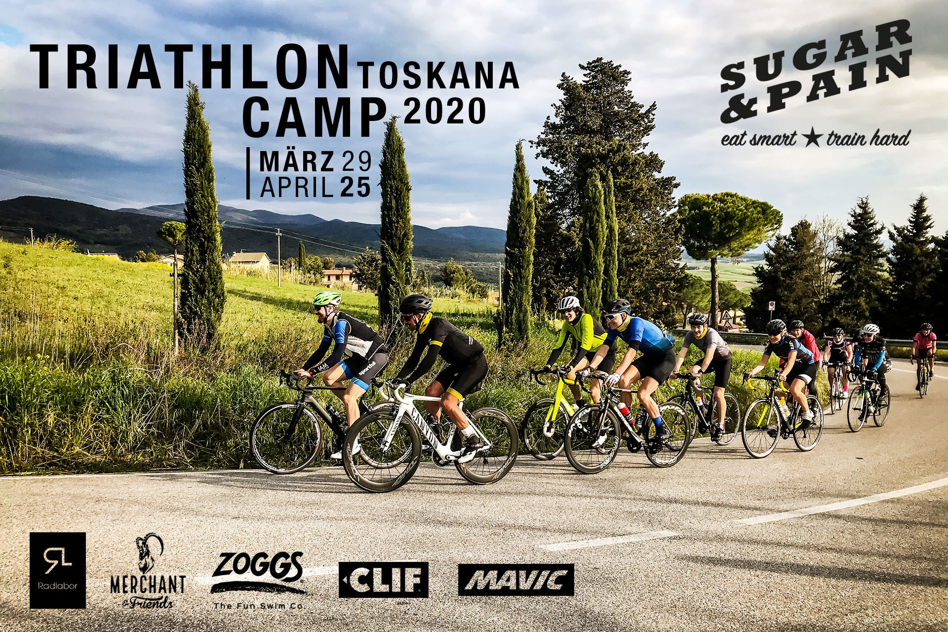SUGAR & PAIN TRI CAMP #TO20 – Das Triathlon Traningslager Toskana 2020