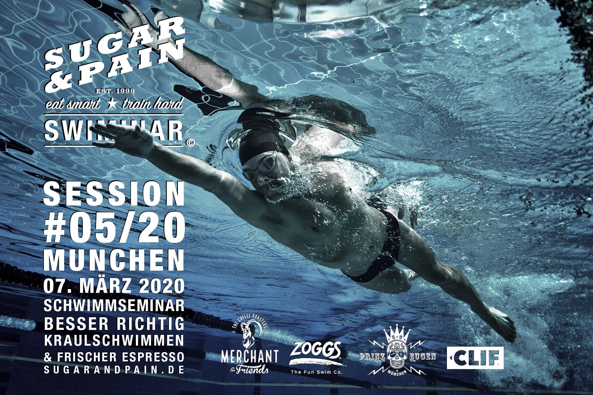 SUGAR & PAIN SWIMINAR #05/20 Session / Richtig Kraulschwimmen Training & Vortrag © stefandrexl.com