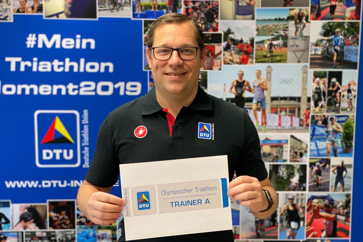 Von der Deutschen Triathlon Union (DTU) ausgebildete Trainer (A und B) haben seit diesem Jahr die Möglichkeit, ein Trainer-Badge zu bekommen. © Deutschen Triathlon Union (DTU)