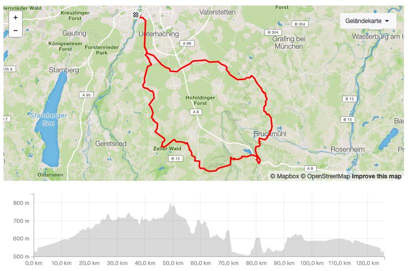 ONE DAY IN MAY Charity Ride 2020 / Die Strecke ermöglicht dir eine Pause, etwa 40 Kilometer vor München in Herrmannsdorf. Die Kaffeerösterei MERCHANT & FRIENDS versorgt dich mit bestem Espresso und feinsten Kuchenspezialitäten © STRAVA