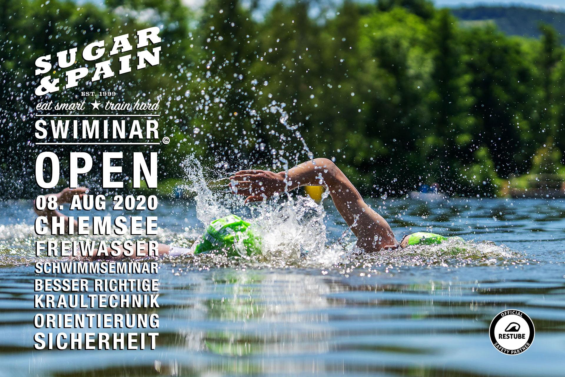SWIMINAR #OPEN Chiemsee / Besser Kraulschwimmen im Freiwasser / Titel © Stefan Drexl / Adobe Stock