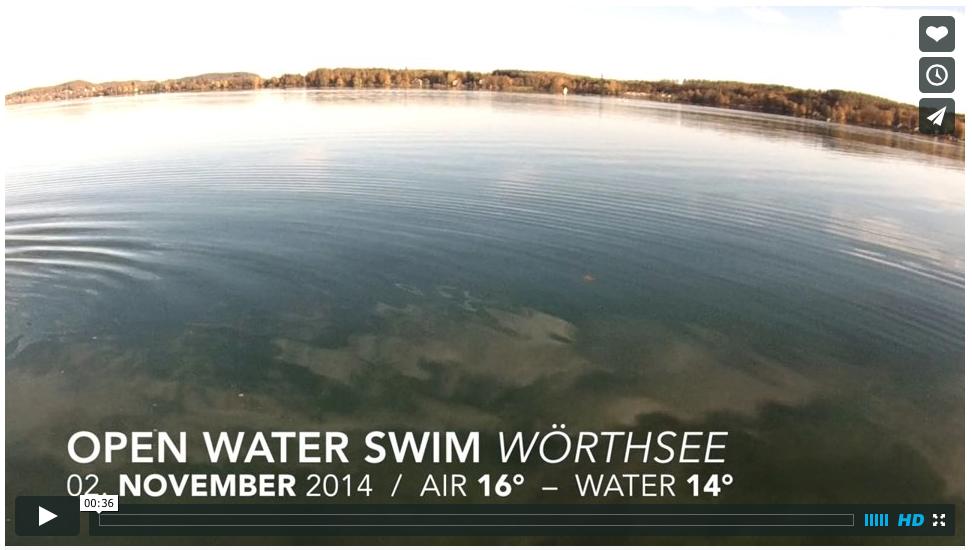OPEN WATER Swimming Wörthsee im November mit Stefan Drexl bei 14 Grad Wassertemperatur