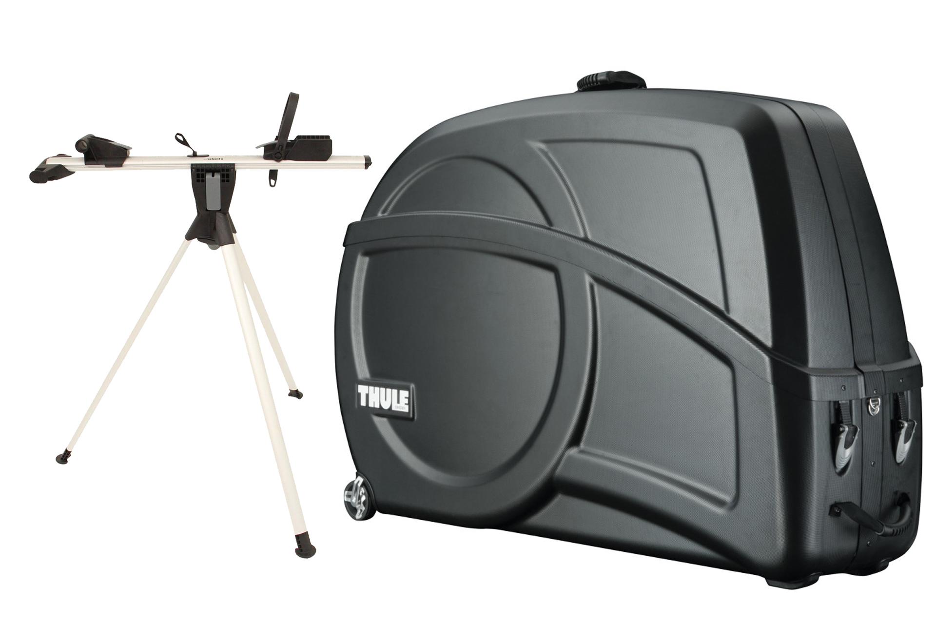 Mit dem THULE RoundTrip Transition Radkoffer mit integriertem Montageständer wird die Reise mit dem eigenen Rennrad oder Mountainbike in das Trainingslager mit Sicherheit zum Kinderspiel.