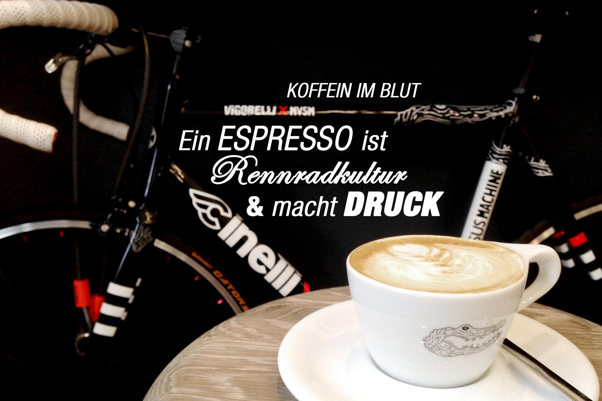KOFFEIN IM BLUT – Ein Espresso ist Rennradkultur und gibt Druck: Cinelli und Cappuccino - ein Stück Italien und Rennradkultur im MAN VERSUS MACHINE ©stefandrexl.de