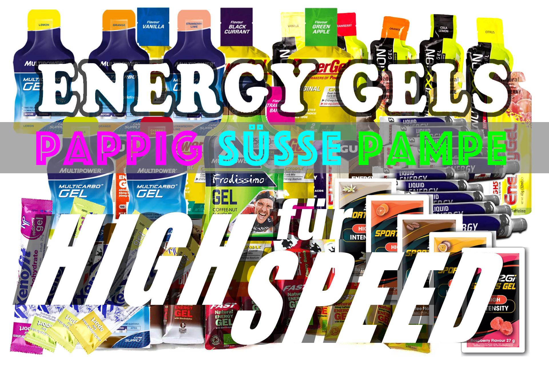 ENERGY GELS: Pappig süsse Pampe für Highspeed © stefandrexl.de