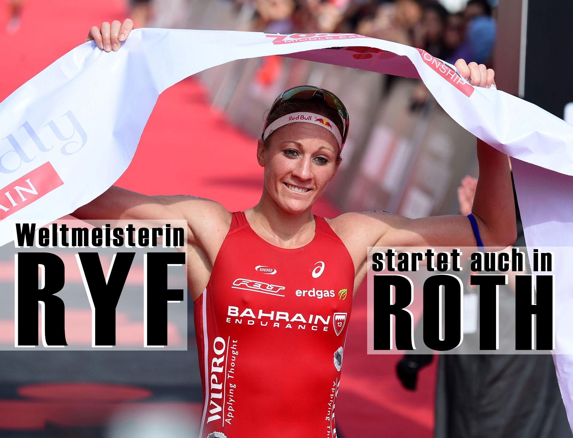 CHALLENGE ROTH Auch Weltmeisterin Daniela Ryf startet 2016