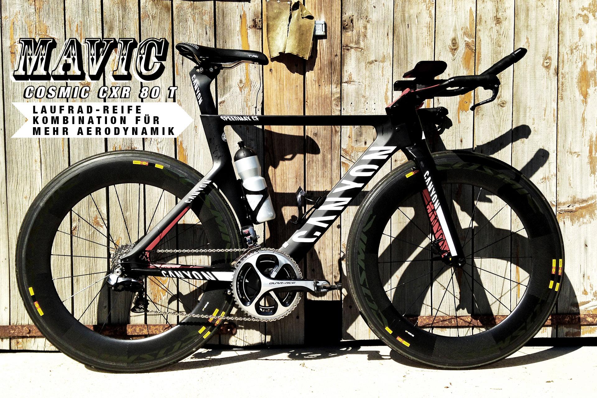 MAVIC COSMIC CXR 80 T Laufrad-Reifen-Kombination für mehr Aerodynamik / Produkttest Titel © Stefan Drexl
