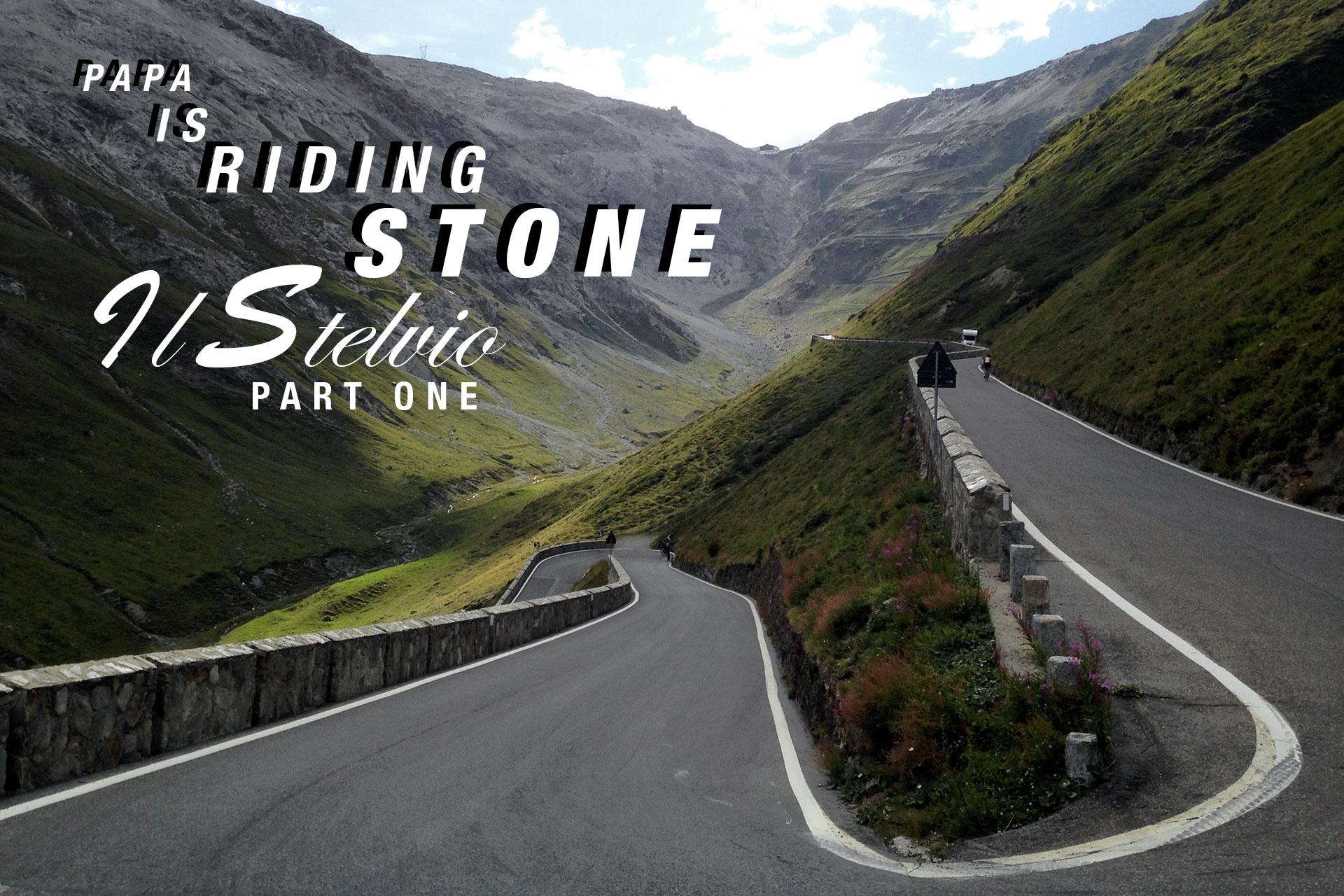 PAPA IS A RIDING STONE Mit dem Rennrad über Stelvio Sella und Valparolo PART 1 / TITEL Die Abfahrt über die Nordostrampe des Stilfser Joch hinunter nach Prad © stefandrexl.com