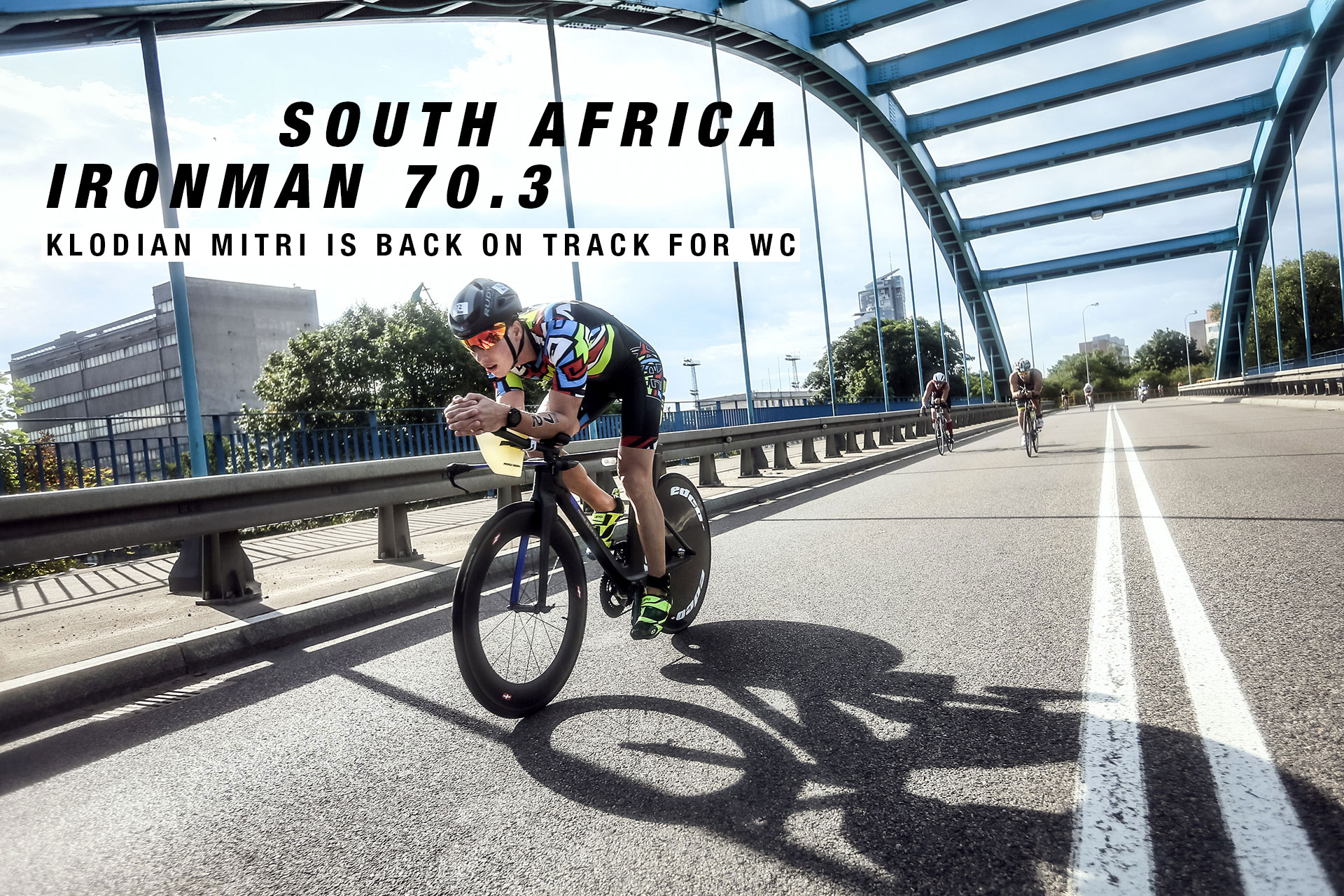 IRONMAN 70.3 SOUTH AFRICA Klodian Mitri is Back on Track for WC / Chasing to make up time and having an aggressive second half of the bike trying to catch-up © klodian mitri