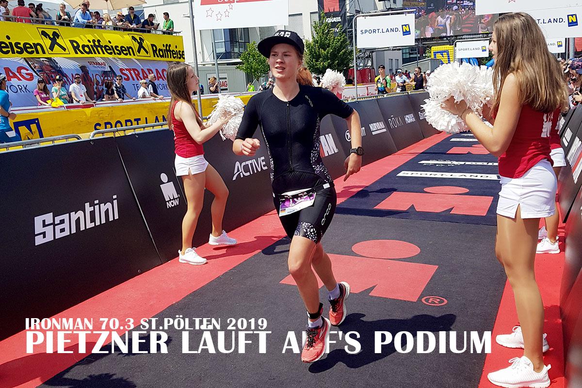 IRONMAN 70.3 ST.PÖLTEN 2019 Pietzner läuft auf's Podium © Pietzner