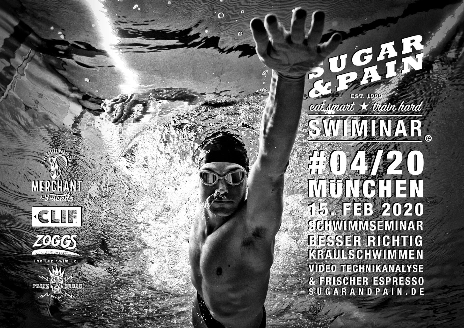 SUGAR & PAIN SWIMINAR #04/20 Richtige Kraultechnik – Das Schwimmseminar mit Videoanalyse / Titel © Stefan Drexl