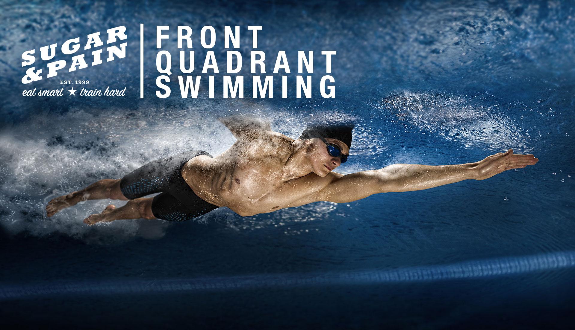 BESSER RICHTIGE KRAULTECHNIK / Mit Front Quadrant Swimming Energie sparen und schneller schwimmen / TTL 1920 © Stefan Drexl / Adobe Stock