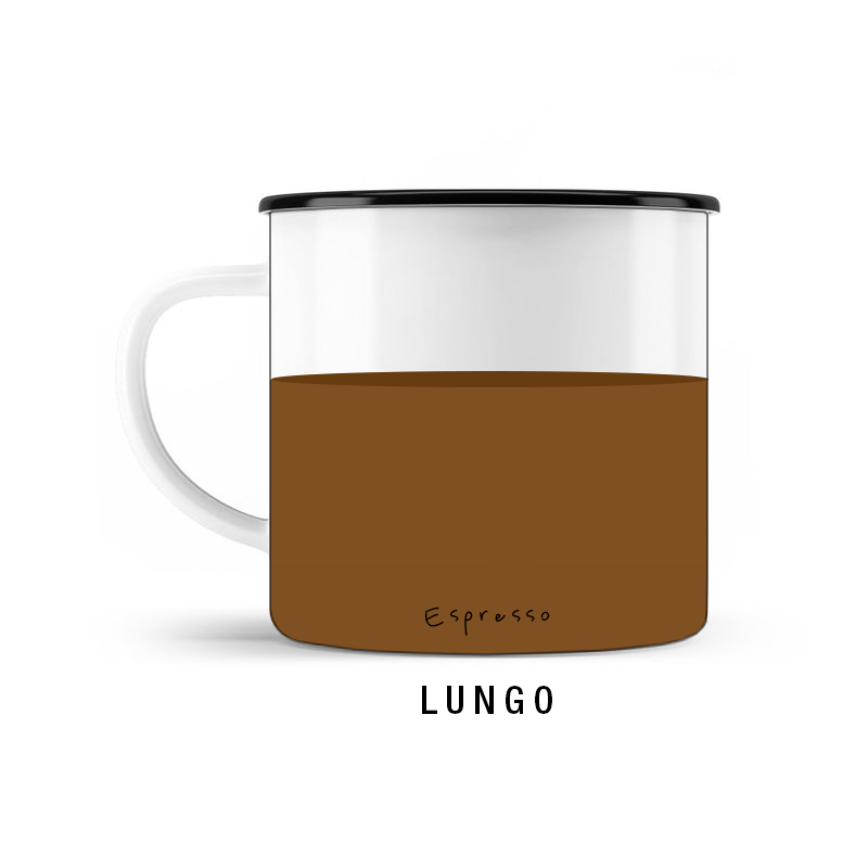 KOFFEIN IM BLUT Welcher Espressotyp bist Du? Lungo © SUGAR & PAIN / stereographic