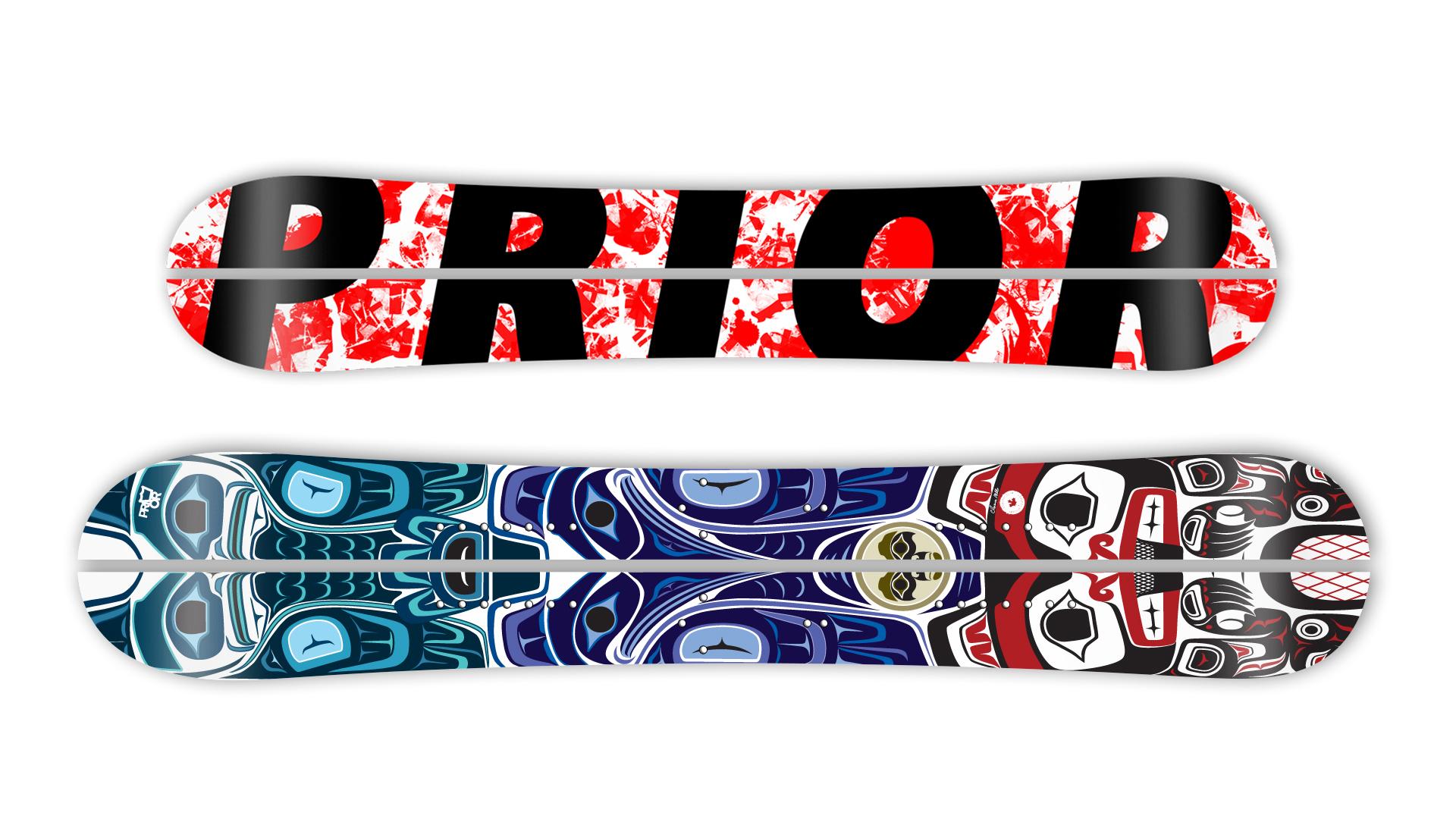 Das Prior Splitboard Modell Backcountry ist das Original und der Klassiker der kanadischen Edelschmiede. In XTC Carbon Bauweise wiegt's nur noch 3000 Gramm.